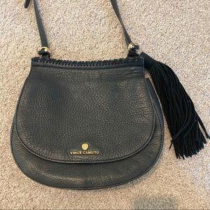 Vince Camuto Black Fringe Crossbody Bag